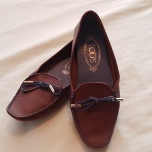 Tod's Brown Leather Moccasins - Size 5